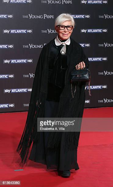 Anna Fendi walks the red carpet at 'The Young Pope' premiere on October 9 2016 in Rome Italy