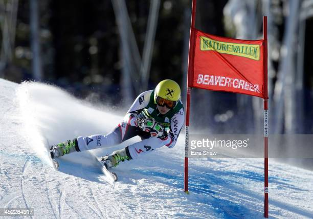 Anna Fenninger of Austra in action during day 2 of training on Raptor for the FIS Beaver Creek Ladies Downhill World Cup on November 27 2013 in...