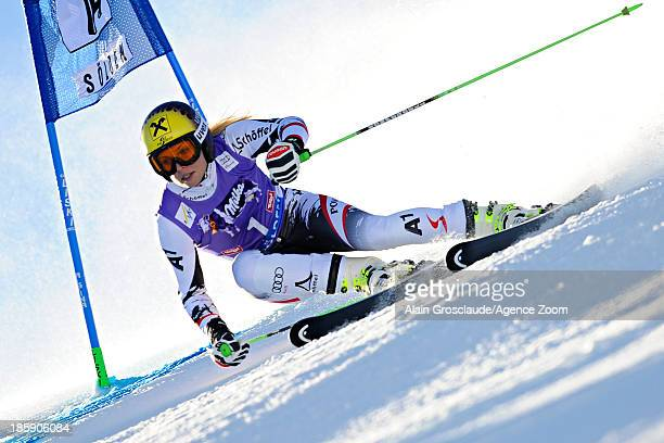 Anna Fenninger of Austria competes during the Audi FIS Alpine Ski World Cup Women's Giant Slalom on October 26 2013 in Soelden Austria