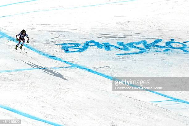 Anna Fenninger of Austria takes 1st place during the Audi FIS Alpine Ski World Cup Women's Super G on March 02 2015 in Bansko Bulgaria