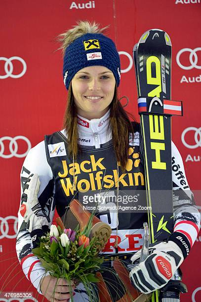 Anna Fenninger of Austria takes 1st place during the Audi FIS Alpine Ski World Cup Women's Giant Slalom on March 06 2014 in Are Sweden