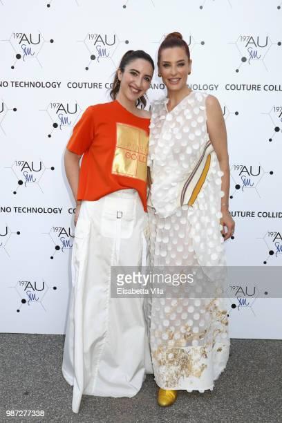 Anna Ferraioli Ravel and Simona Borioni attend Sfilata AU197SM AltaRoma on June 29 2018 in Rome Italy