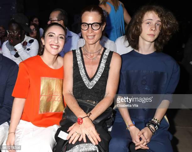 Anna Ferraioli Ravel Jane Alexander and Damiano Alexander attend Sfilata AU197SM AltaRoma on June 29 2018 in Rome Italy