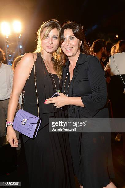Anna Ferzetti and Eleonora Pratelli attend the OCTO The New Architecture of Time by Bulgari dinner at the Stadio dei Marmi on July 13 2012 in Rome...
