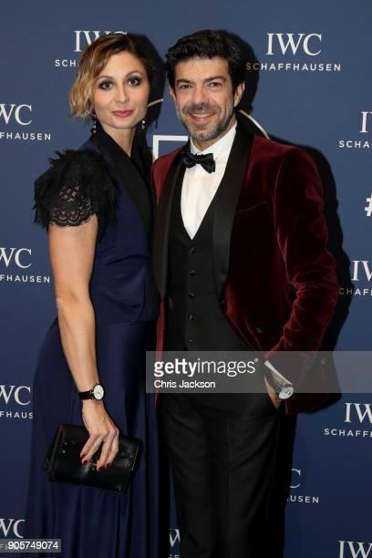 Anna Ferzetti and Pierfancesco Favino attend the IWC Schaffhausen Gala celebrating the Maison's 150th anniversary and the launch of its Jubilee...