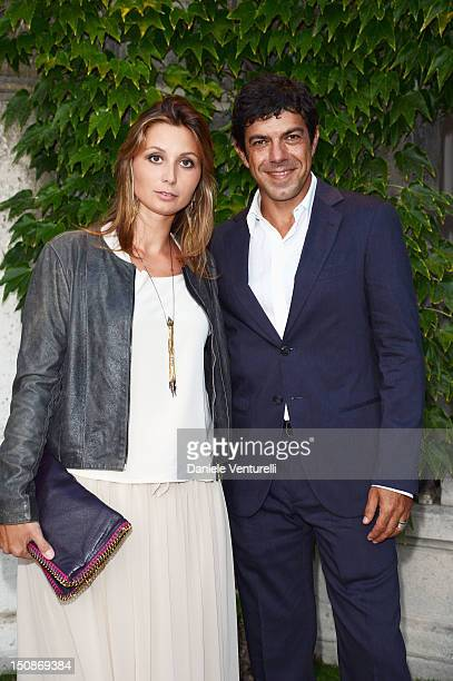 Anna Ferzetti and Pierfrancesco Favino attend The 69th Venice International Film Festival at Excelsior Hotel on August 28 2012 in Venice Italy