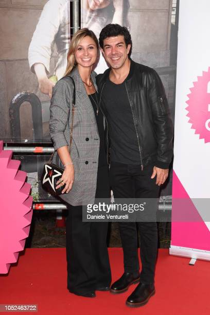 Anna Ferzetti and Pierfrancesco Favino attend the Backliner photocall as part of Alice Nella Citta during the 13th Rome Film Fest at Auditorium Parco...