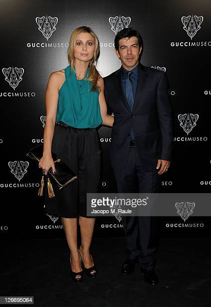 Anna Ferzetti and Pierfrancesco Favino attend the Gucci Museum opening on September 26 2011 in Florence Italy