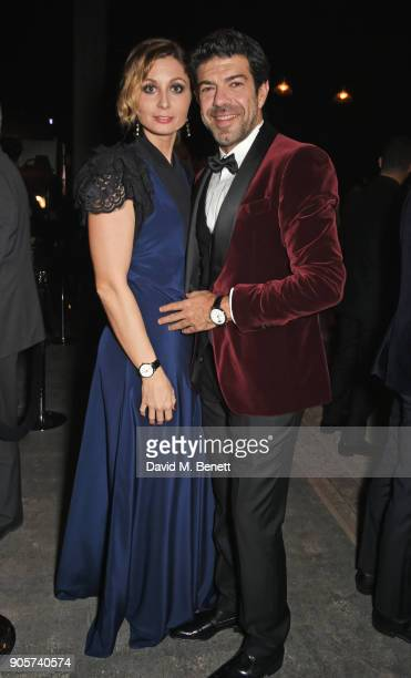 Anna Ferzetti and Pierfrancesco Favino attend the IWC Schaffhausen Gala celebrating the Maison's 150th anniversary and the launch of its Jubilee...