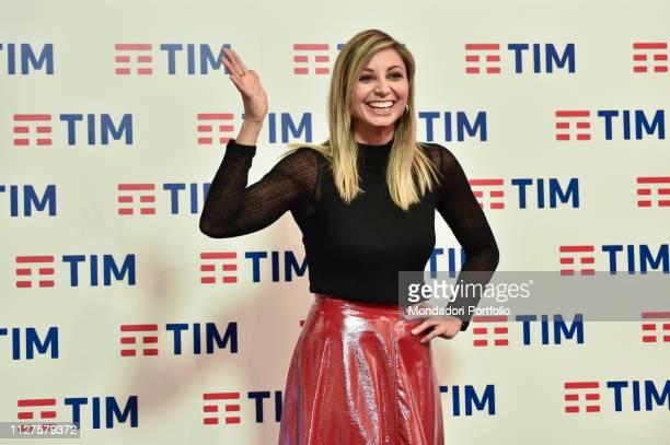 Anna Ferzetti at the prefestival photocall in the Press Room of the 69th Sanremo Festival Sanremo 5 February 2019