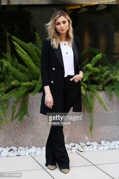 Anna Ferzetti attends a photocall for Domani E Un Altro Giorno at Hotel Visconti on February 21 2019 in Rome Italy