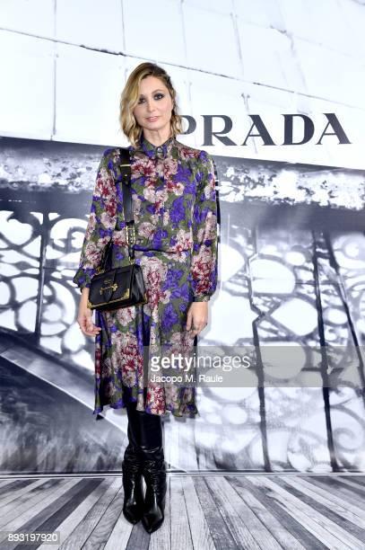Anna Ferzetti attends the cocktail reception to present Prada Resort 2018 collection on December 14th 2017 in Prada's Via dei Condotti stores Rome