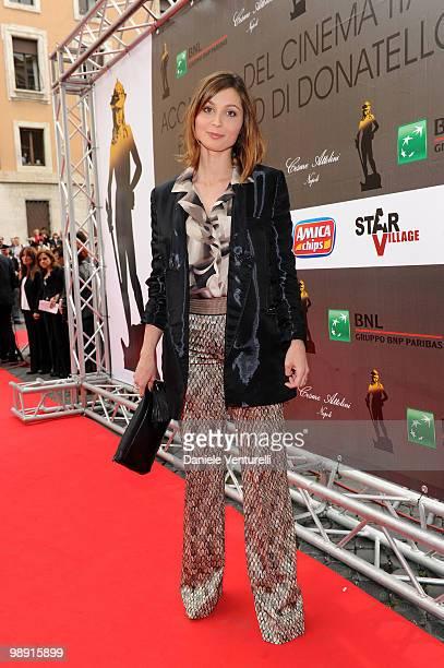 Anna Ferzetti attends the 'David Di Donatello' movie awards at the Auditorium Conciliazione on May 7 2010 in Rome Italy