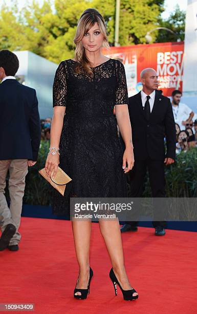 Anna Ferzetti attends The Reluctant Fundamentalist premiere and opening ceremony during the 69th Venice Film Festival at the Palazzo del Cinema on...