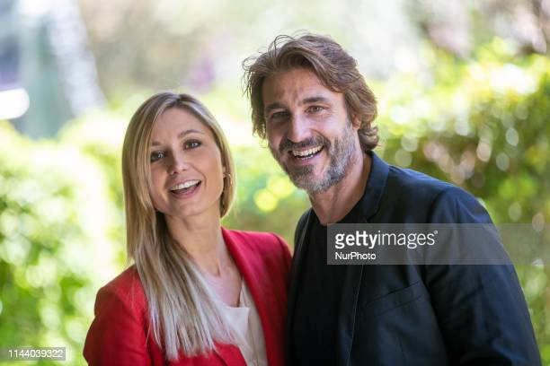 Anna Ferzetti Daniele Liotti attends the 'Duisburg' photocall on 16 May 2019 in Rome Italy A TV movie inspired by the facts of blood in August 2007 a...