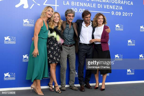 Anna Ferzetti Laura Adriani Silvio Soldini Adriano Giannini and Valeria Golino attend the 'Emma ' photocall during the 74th Venice Film Festival at...