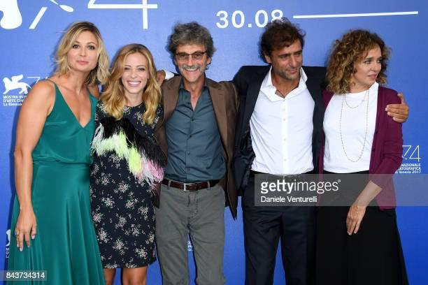 Anna Ferzetti Laura Adriani Silvio Soldini Adriano Giannini and Valeria Golino attend the 'Emma ' photocall during the 74th Venice Film Festival at...