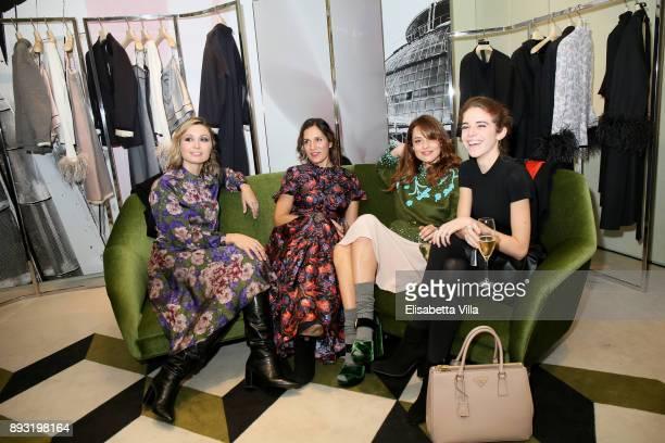 Anna Ferzetti Laura Luchetti Valeria Bilello and Valentina Romani attend the cocktail reception to present Prada Resort 2018 collection on December...
