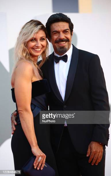 Anna Ferzetti, Pierfrancesco Favino walk the red carpet ahead of closing ceremony at the 77th Venice Film Festival on September 12, 2020 in Venice,...