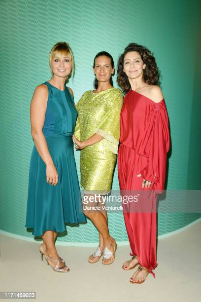 Anna Ferzetti, Veronica Berti and Maria Fernanda Candido attend the Filming in Italy press conference during the 76th Venice Film Festival at...