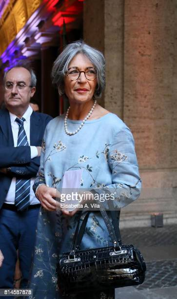 Anna Finocchiaro attends French National Day celebrations on July 14 2017 in Rome Italy