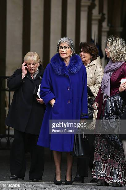 Anna Finocchiaro attends the celebrations for International Women's Day at Palazzo del Quirinale on March 8 2016 in Rome Italy