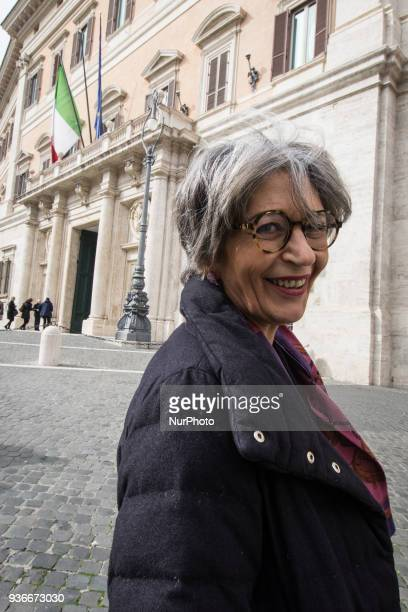 Anna Finocchiaro deputy of 'Partito Democratico' leftwing political party in front Parlament on March 22 2018 in Rome Italy