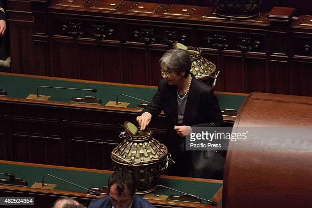 MONTECITORIO ROME ROME ITALY Anna Finocchiaro Vote in joint session for the election of the President of the Italian Republic