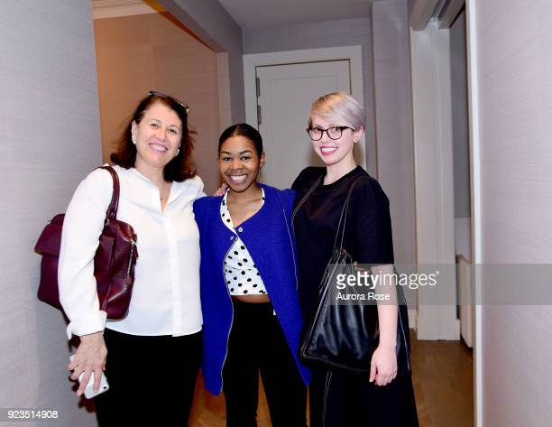 Anna Fioriti Jessica Noisette and Bailey Johnson attend Frette Celebrates Bjorn Bjornsson at Private Residence on February 21 2018 in New York City