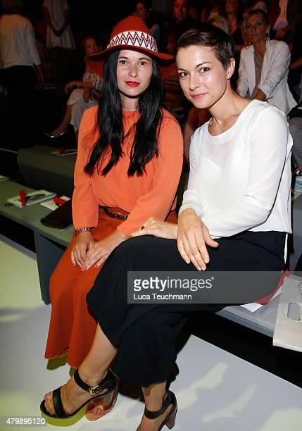 Anna Fischer and Henriette RichterRoehl attend the Minx by Eva Lutz show during the MercedesBenz Fashion Week Berlin Spring/Summer 2016 at...