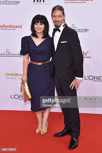 Anna Fischer and her boyfriend Leonard Andreae attend the Lola German Film Award on May 27 2016 in Berlin Germany