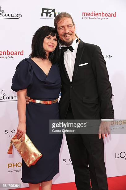 Anna Fischer and her boyfriend Leonard Andreae attend the Lola German Film Award 2016 on May 27 2016 in Berlin Germany