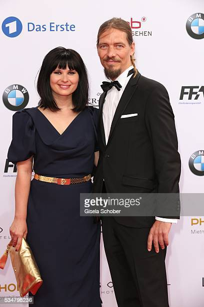Anna Fischer and her boyfriend Leonard Andreae attend the Lola - German Film Award 2016 on May 27, 2016 in Berlin, Germany.