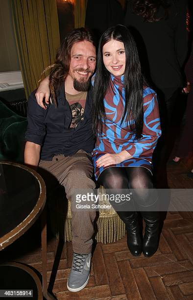 Anna Fischer and her boyfriend Leonard Andreae during 'The Circle' After Show Cocktail 65th Berlinale International Film Festival on February 10 2015...