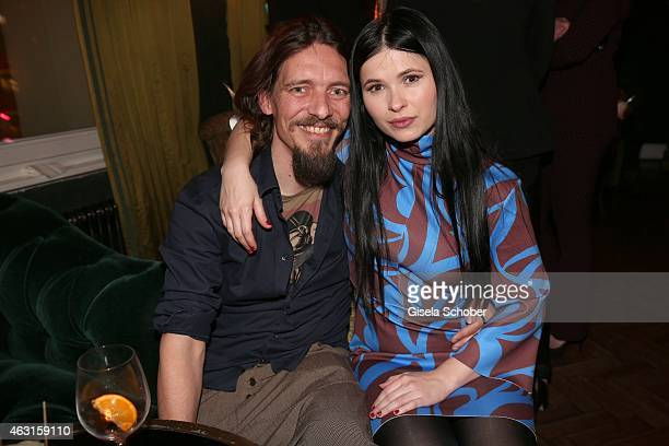 Anna Fischer and her boyfriend Leonard Andreae during 'The Circle' After Show Cocktail - 65th Berlinale International Film Festival on February 10,...