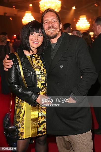 Anna Fischer and her boyfriend Leonard Andreae during the Goldene Kamera 2016 reception on February 6 2016 in Hamburg Germany