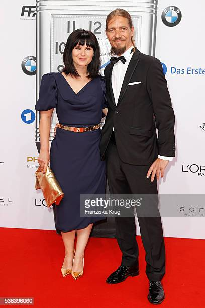Anna Fischer and her boyfriend Leonard Andreae during the Lola German Film Award 2016 on May 27 2016 in Berlin Germany
