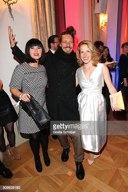 Anna Fischer and her boyfriend Leonard Andreae Paula Kalenberg during the Bunte and BMW Festival Night 2016 during the 66th Berlinale International...