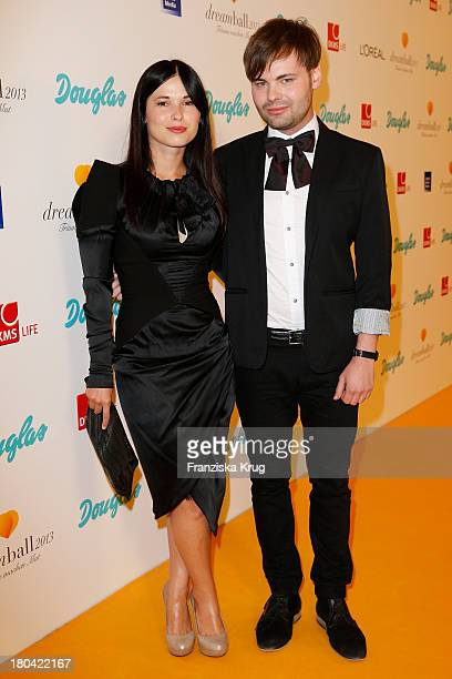 Anna Fischer and Leonard Andreae attend the Dreamball 2013 charity gala at Ritz Carlton on September 12 2013 in Berlin Germany
