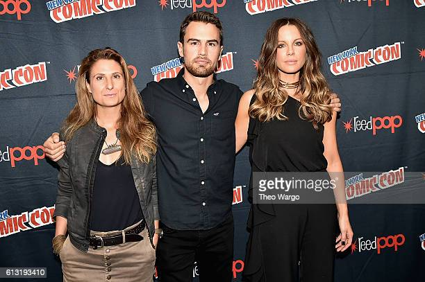 Anna Foerster Theo James and Kate Beckinsale attend the Underworld Photo Call at Jacob Javits Center on October 7 2016 in New York City