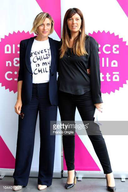 Anna Foglietta and Fabia Bettini attend the Alice Nella Città Photocall at the Maxxi Museum on October 1 2018 in Rome Italy