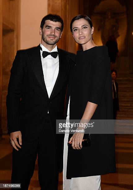 Anna Foglietta and her husband attend the Vanity Fair Dinner during The 8th Rome Film Festival at Villa Medici on November 9, 2013 in Rome, Italy.