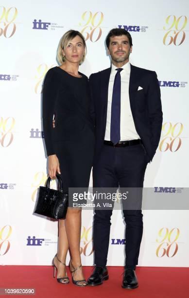 """Anna Foglietta and Paolo Sopranzetti attend """"Fulvio Lucisano - Sotto Il Segno Del Cinema"""" event at Maxxi Museum on September 24, 2018 in Rome, Italy."""