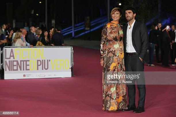 Anna Foglietta and Paolo Sopranzetti attend the 'Ragion Di Stato' pink carpet at Auditorium Parco Della Musica as a part of Roma Fiction Fest 2014 on...