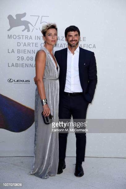 Anna Foglietta and Paolo Sopranzetti attend Un Giorno All'Improvviso screening during the 75th Venice Film Festival at Sala Darsena on September 5...