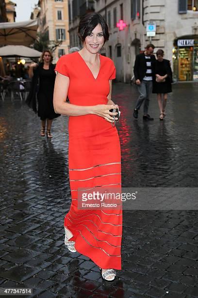 Anna Foglietta arrives the 2015 Globo D'Oro at Piazza Farnese on June 16 2015 in Rome Italy