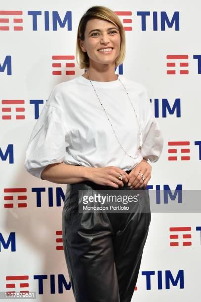 Anna Foglietta at the prefestival photocall in the Press Room of the 69th Sanremo Festival Sanremo 5 February 2019