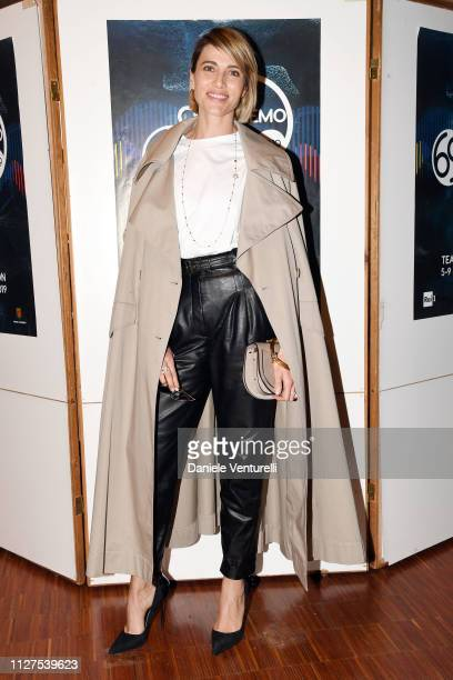 Anna Foglietta attends a photocall on the first day of the 69. Sanremo Music Festival at Teatro Ariston on February 05, 2019 in Sanremo, Italy.