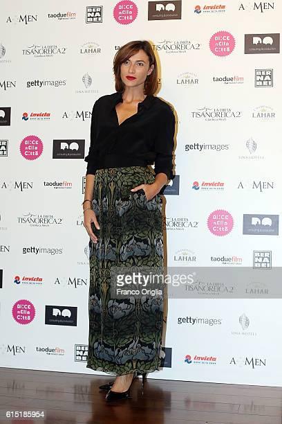 Anna Foglietta attends 'Alice Nella Citta' Jury Dinner during the 11th Rome Film Festival at on October 17 2016 in Rome Italy