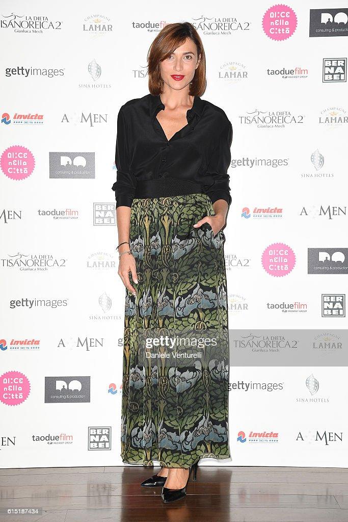 Anna Foglietta attends 'Alice Nella Citta' Jury Dinner during the 11th Rome Film Festival at on October 17, 2016 in Rome, Italy.